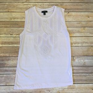 J. Crew Lilic Lace Applique tank top, Size XXS